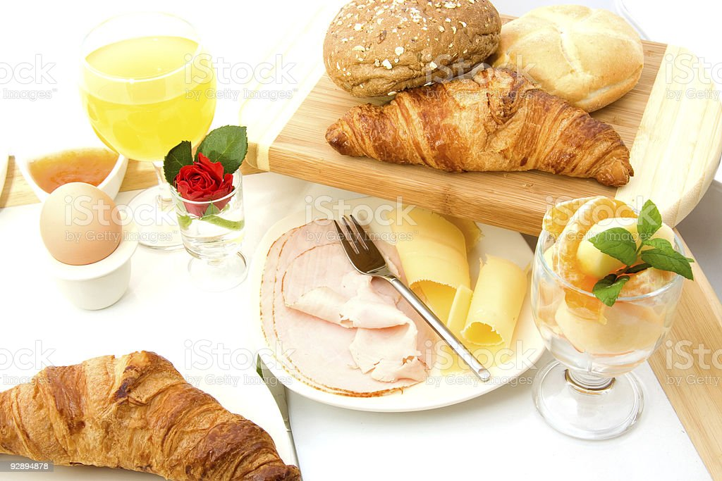 Delicious breakfast stock photo
