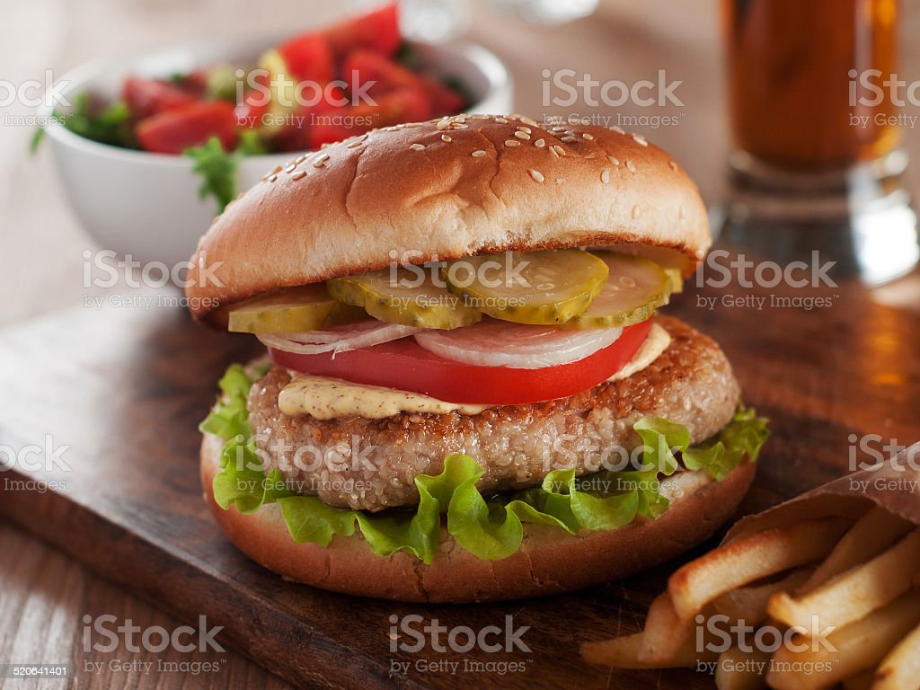 Delicious burger stock photo