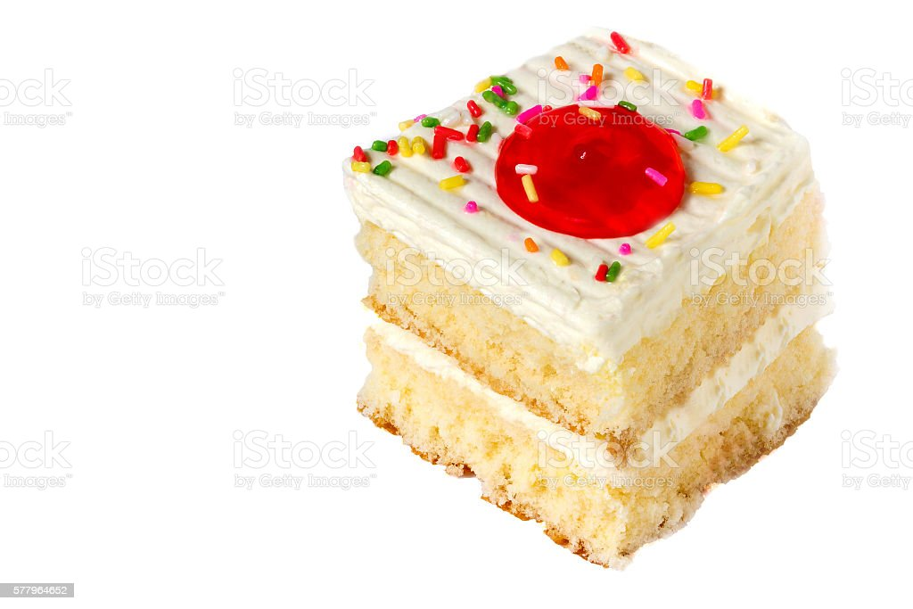 Delicious cake on white stock photo