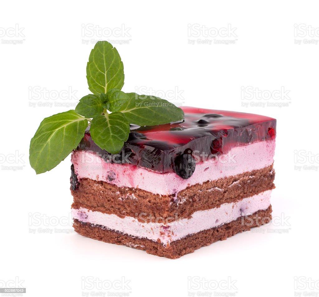 Delicious  cake piece stock photo