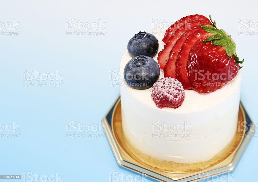 Delicious cake with berry royalty-free stock photo