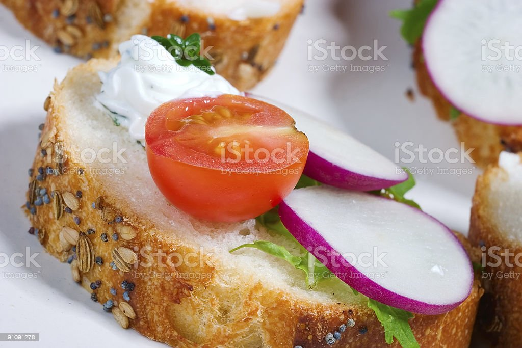 Delicious canape royalty-free stock photo