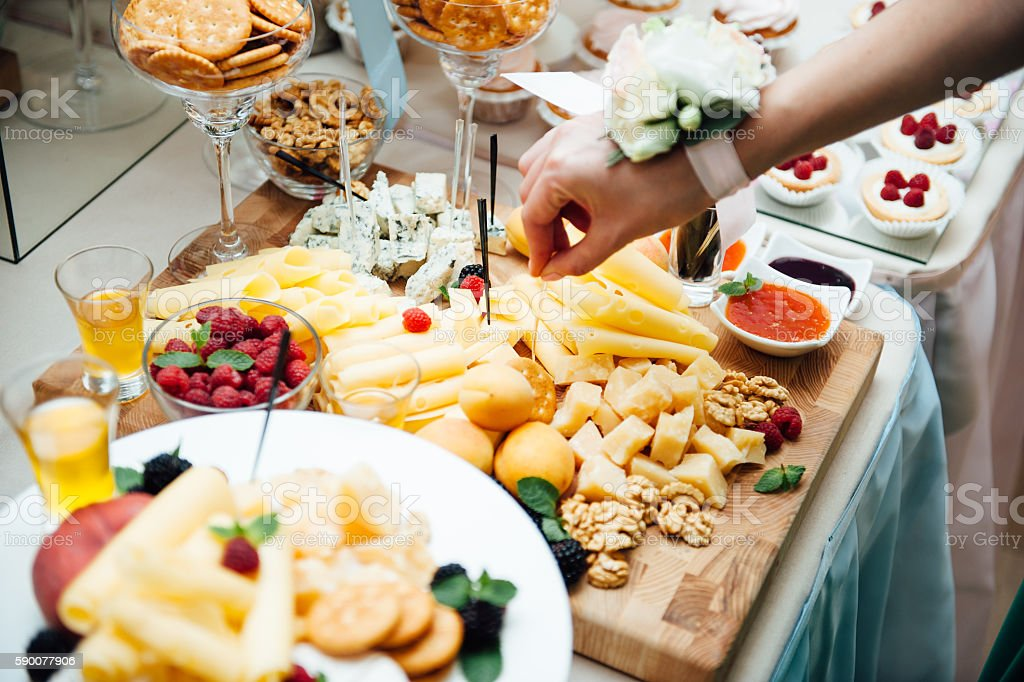 Delicious canapes as event dish stock photo