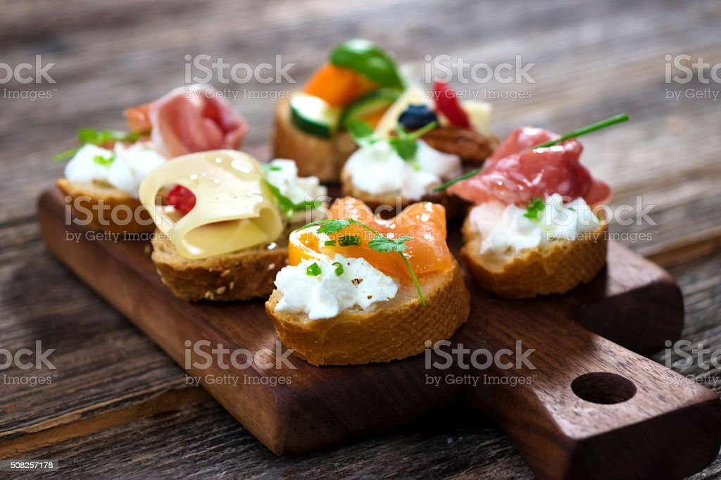 Delicious  Canapes stock photo