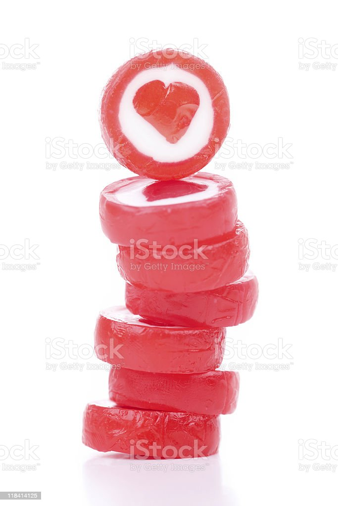 Delicious Candy Hearts royalty-free stock photo