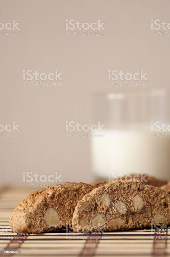 Delicious cantuccini cookies stock photo