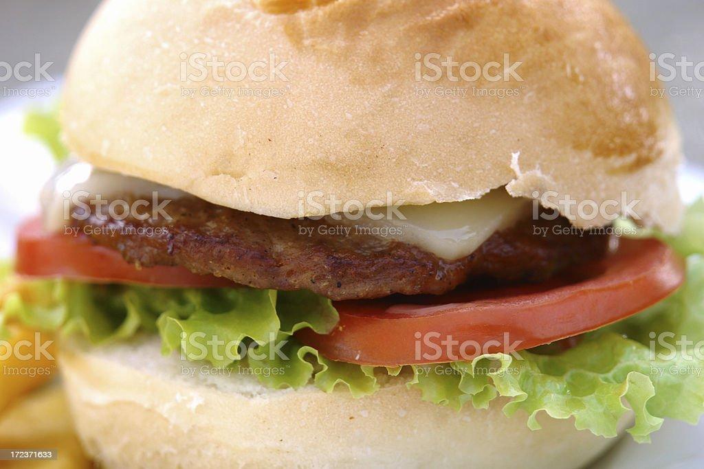 Delicious Cheeseburger royalty-free stock photo