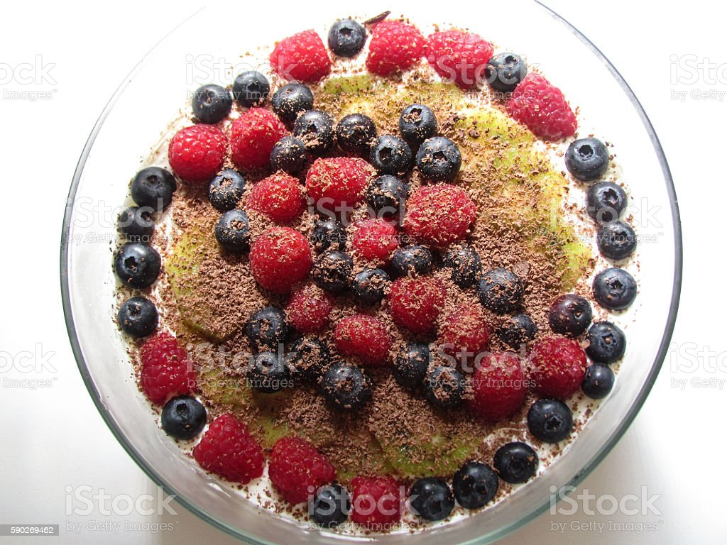 delicious cheesecake with berries stock photo
