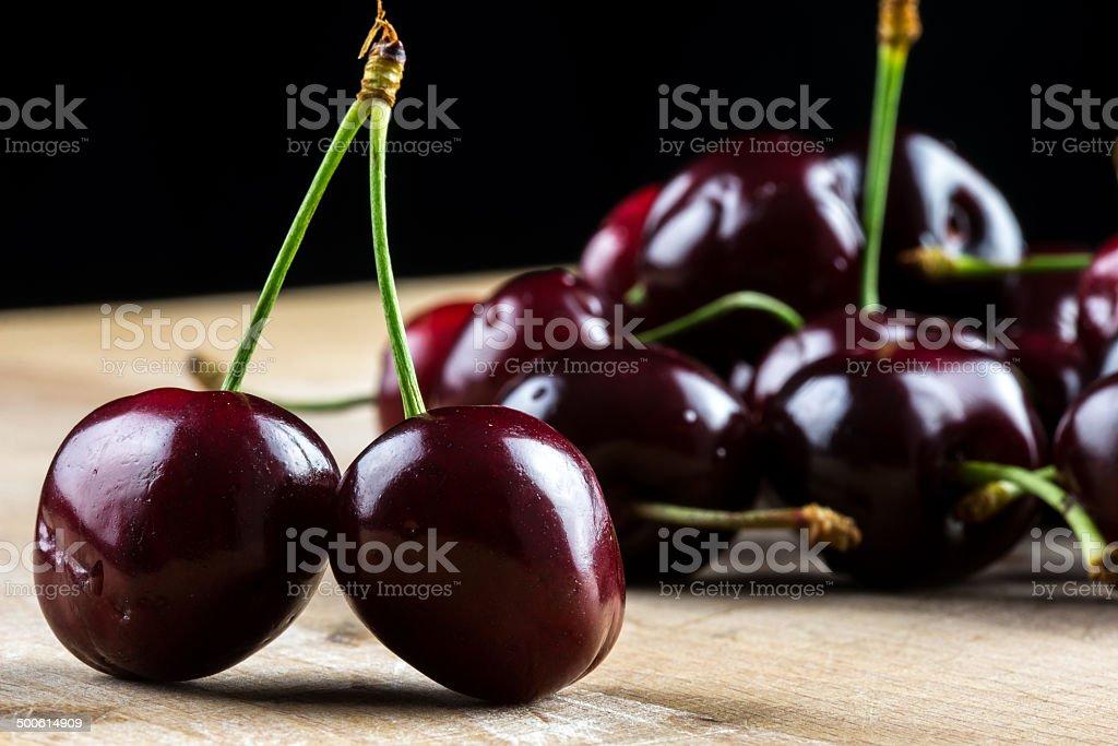 Delicious cherries stock photo