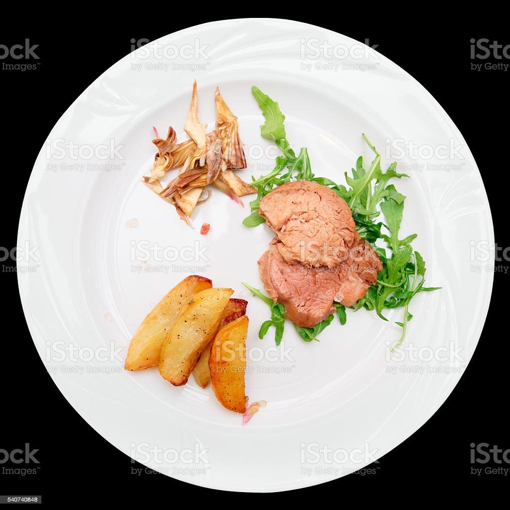 Delicious chianina beef dish stock photo