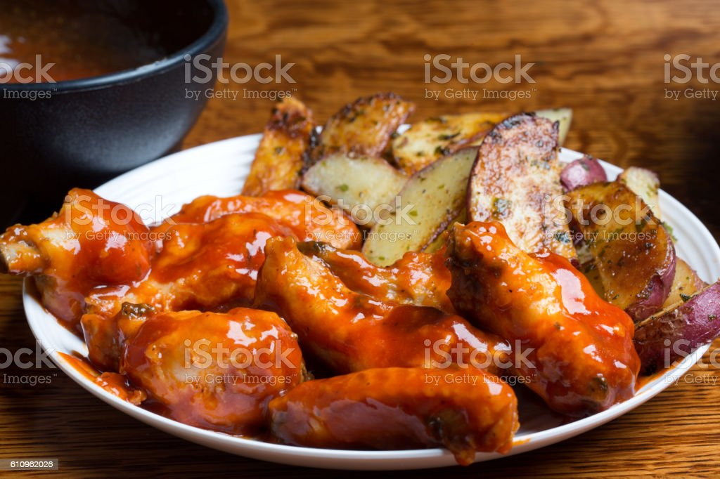 Delicious Chicken Buffalo Wings stock photo