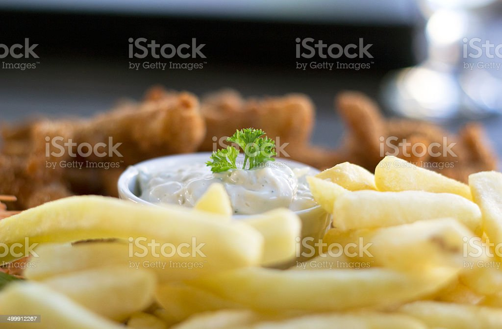 Delicious Chicken Fingers royalty-free stock photo