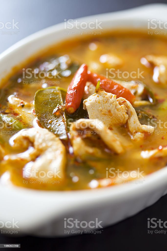 Delicious chilli chicken tom yum royalty-free stock photo