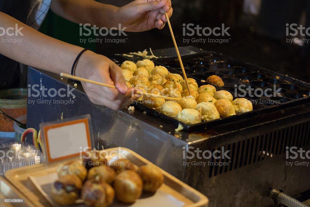 Вкусной жареной булочке Китайский пельмень Стоковые фото Стоковая фотография