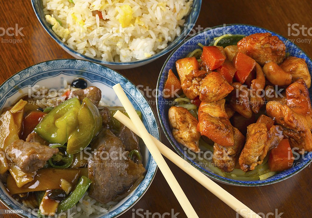 Delicious Chinese meal stock photo