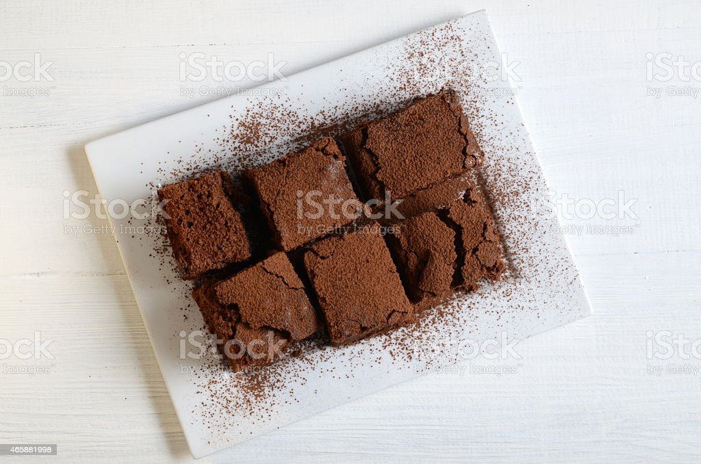 Delicious Chocolate Brownies stock photo