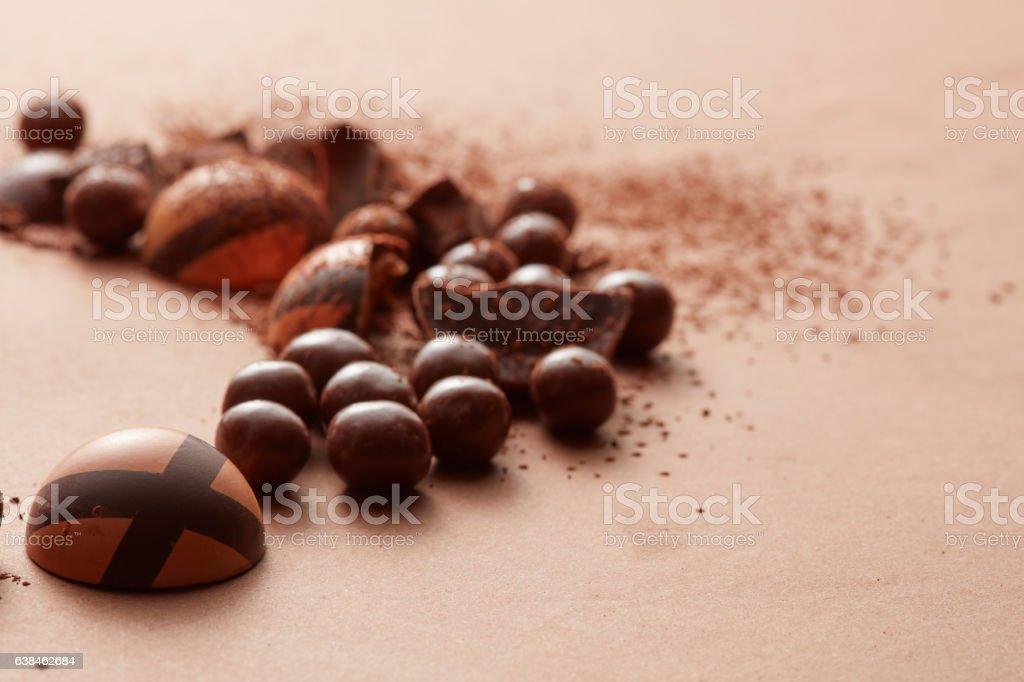 delicious chocolate candies stock photo
