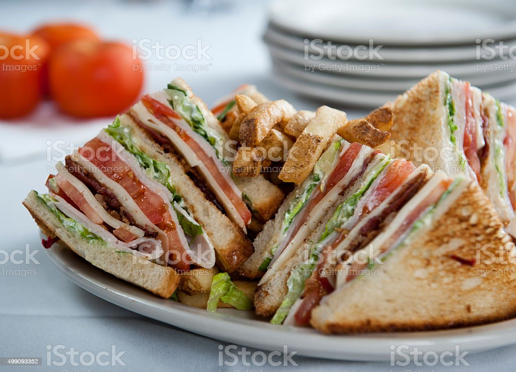 Delicious club sandwich (Click for more) stock photo