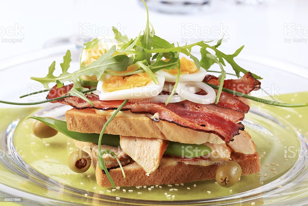 Delicious club sandwich royalty-free stock photo