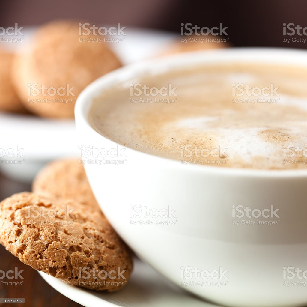 Delicious coffee with milk froth royalty-free stock photo