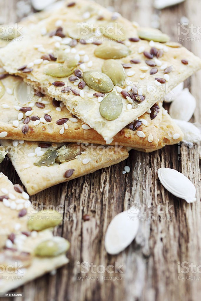 delicious cookies with seeds stock photo