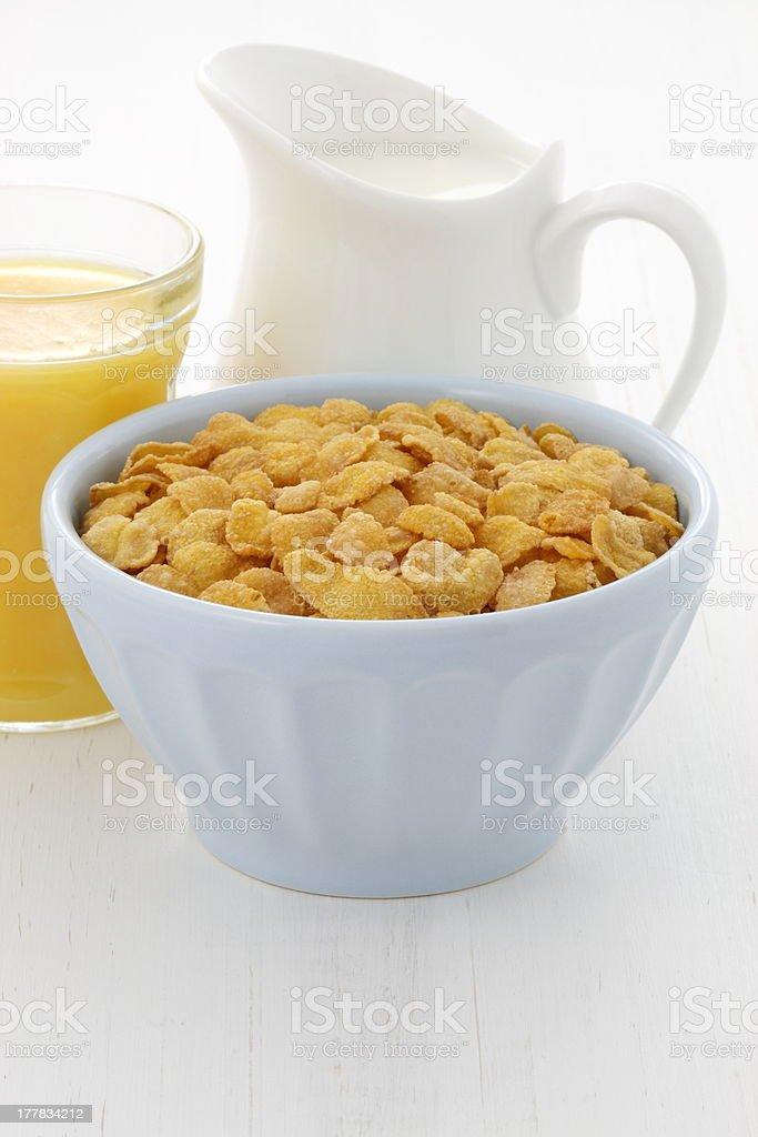 delicious corn flake breakfast royalty-free stock photo