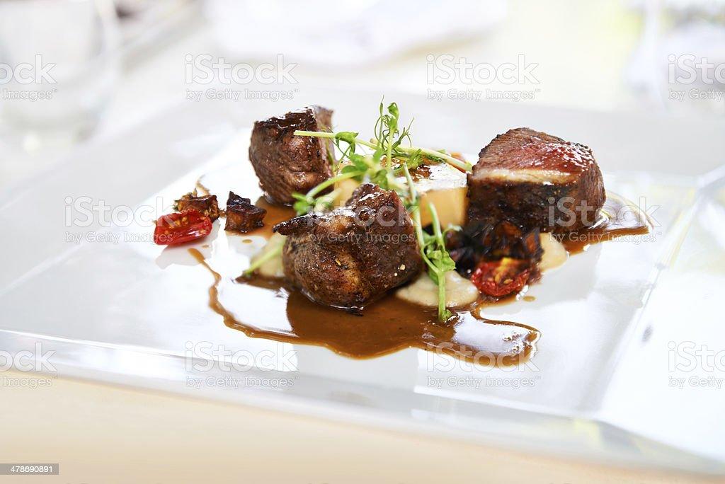 Delicious cuisine stock photo