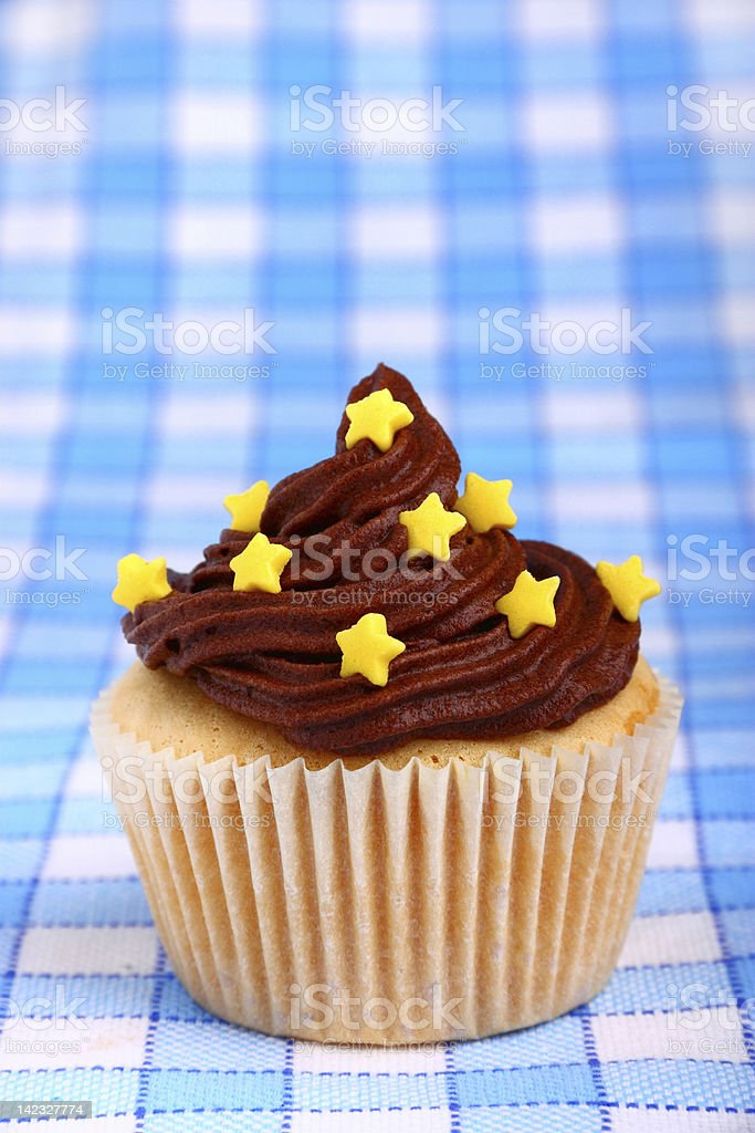 Delicious cup cake with stars royalty-free stock photo