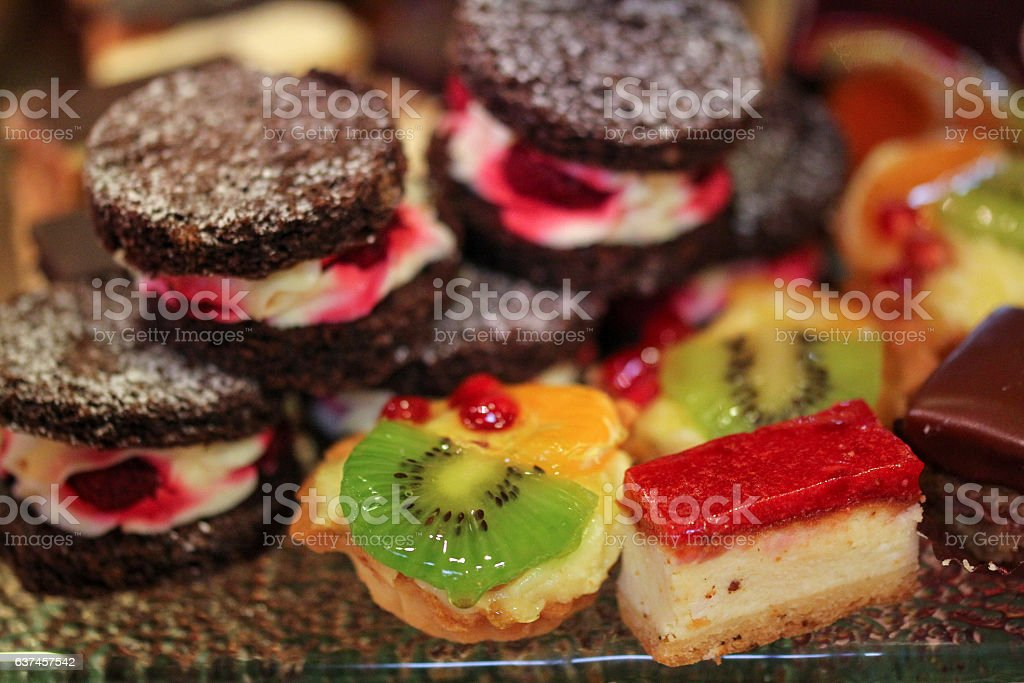 Delicious desserts at a ceremony stock photo