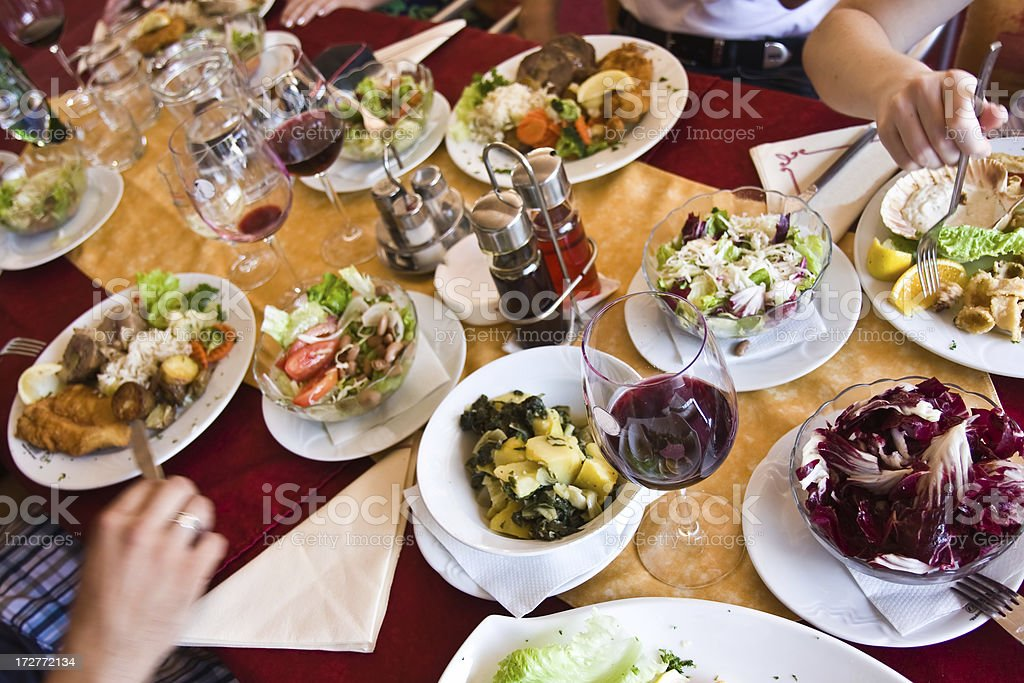 Delicious dining stock photo