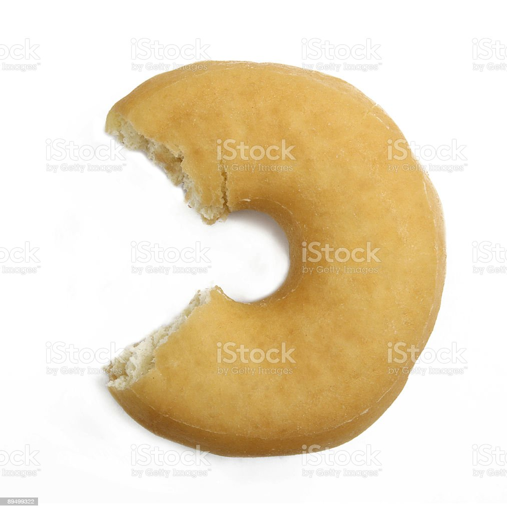 Delicious donut isolated stock photo