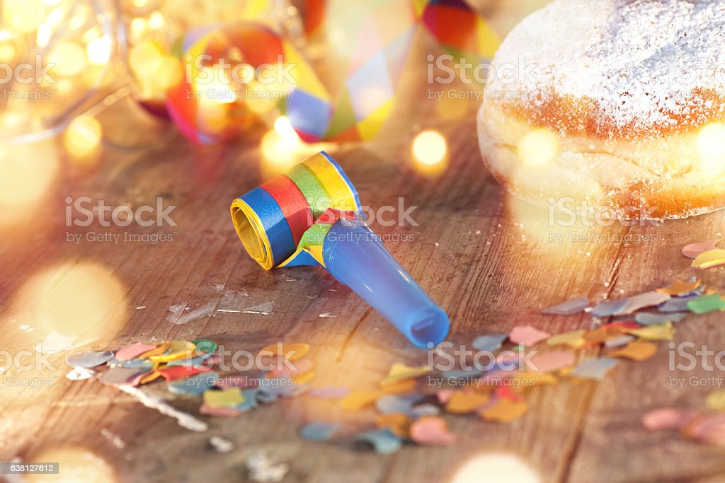 Delicious donuts for carnival stock photo