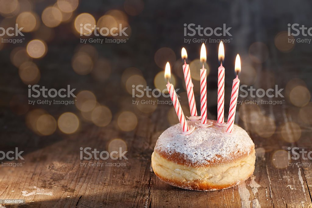 Delicious donuts for Mardi Gras stock photo
