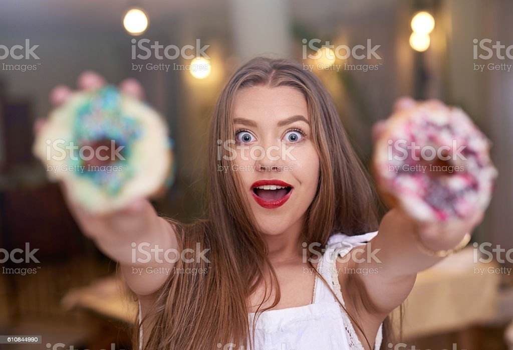 delicious donuts for you stock photo