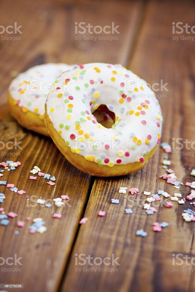Delicious Donuts with Sprinkles royalty-free stock photo