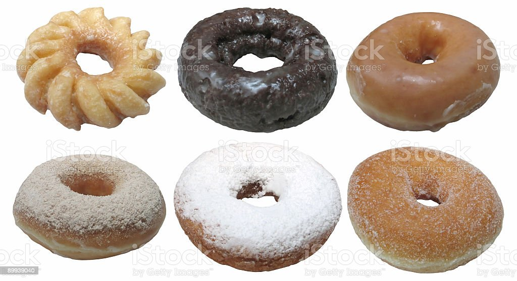 Delicious Doughnuts (Isolated) royalty-free stock photo