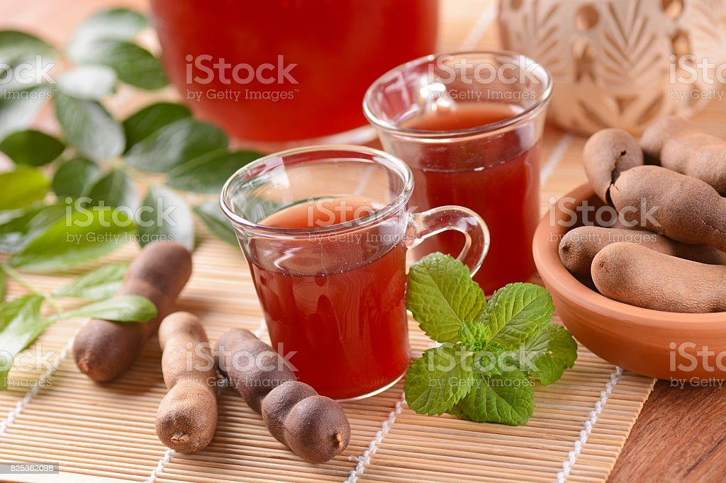 delicious drink tamarind stock photo