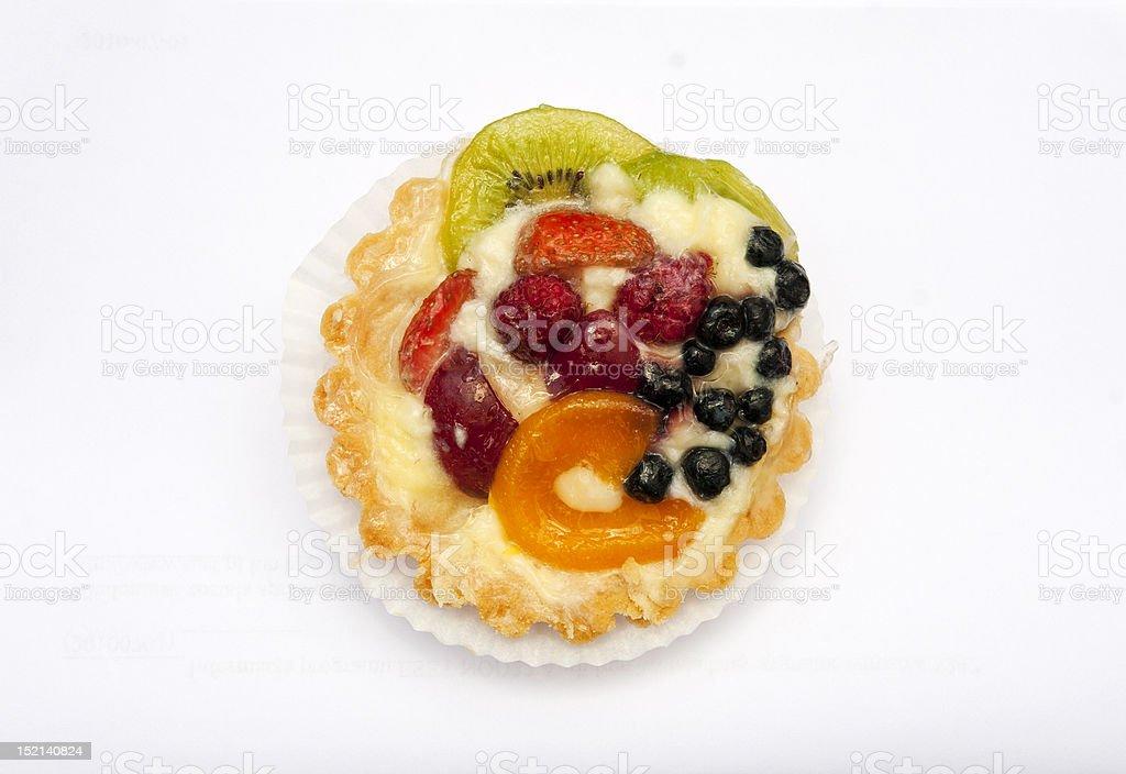Köstliche flan mit Obst Lizenzfreies stock-foto