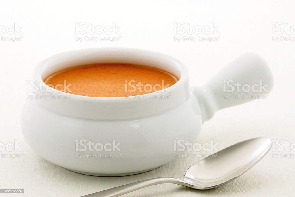 delicious french lobster bisque royalty-free stock photo