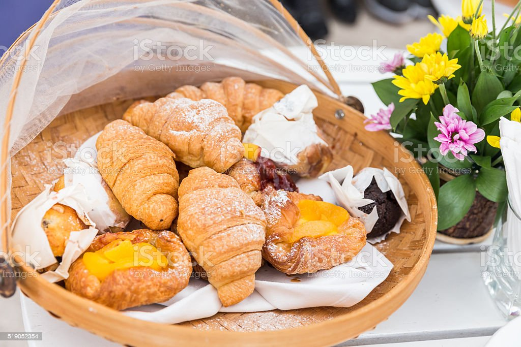 Delicious french pastry stock photo