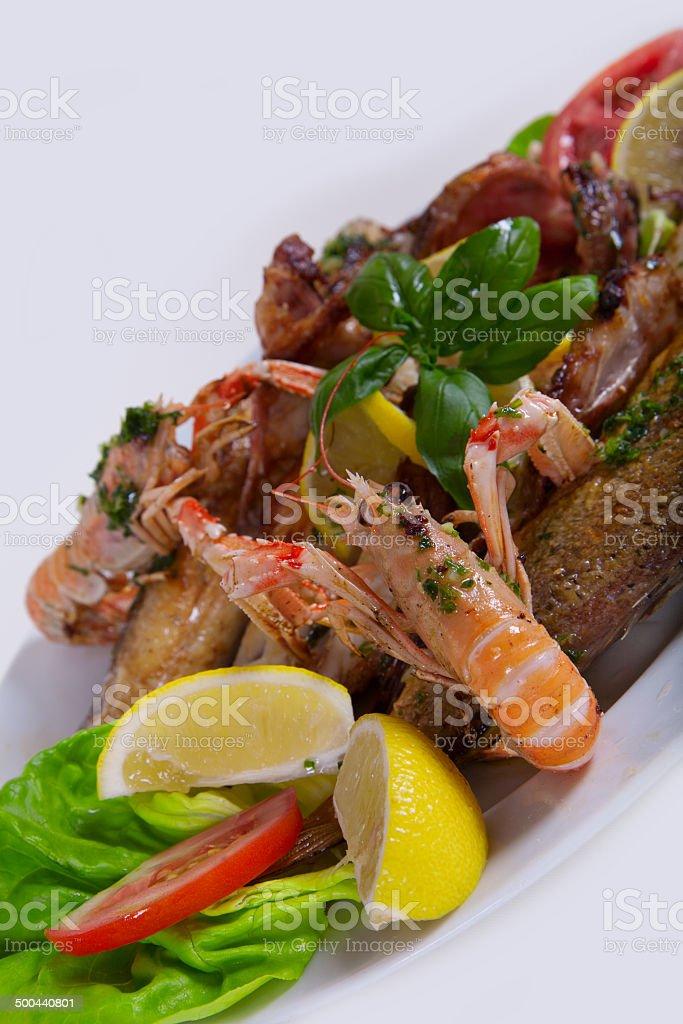 Delicious fresh Adriatic seafood dish stock photo