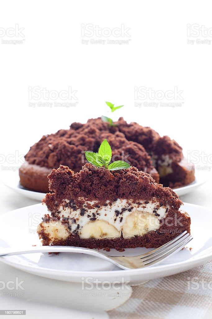 Delicious fresh banana cake royalty-free stock photo