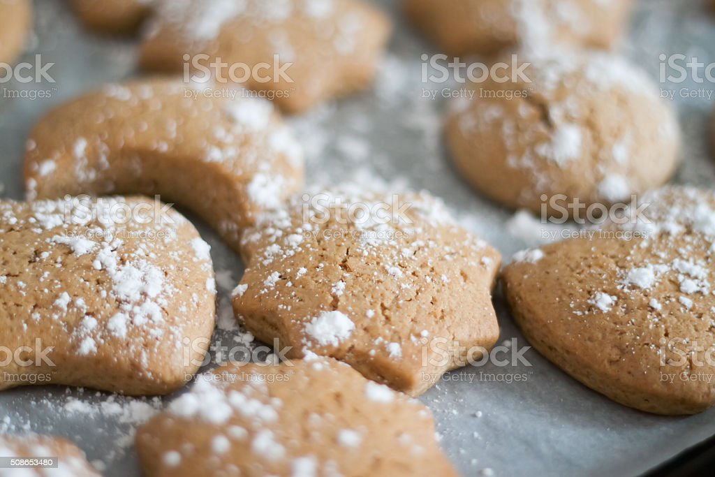 delicious fresh Christmas gingerbread stock photo
