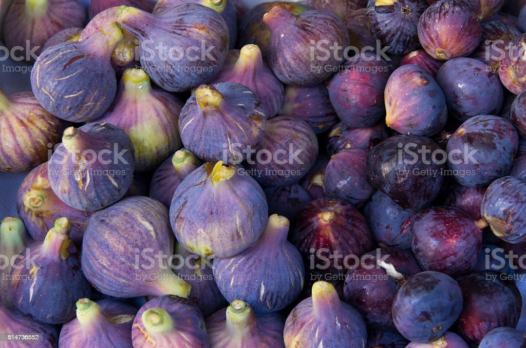 Delicious fresh figs stock photo