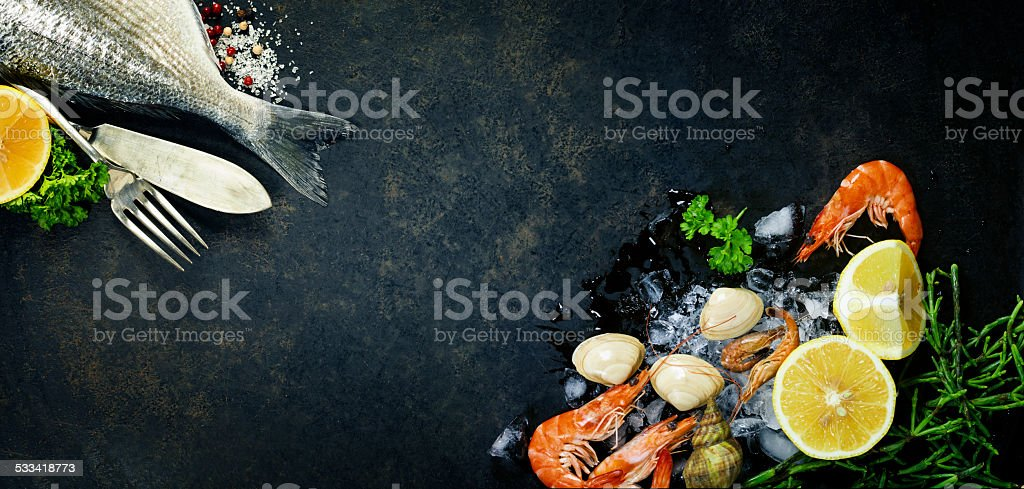 Delicious fresh fish stock photo