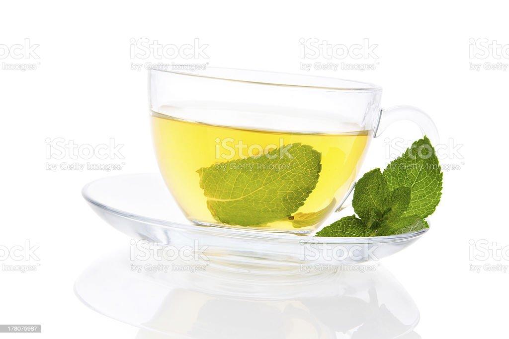 Delicious fresh Mint tea. royalty-free stock photo