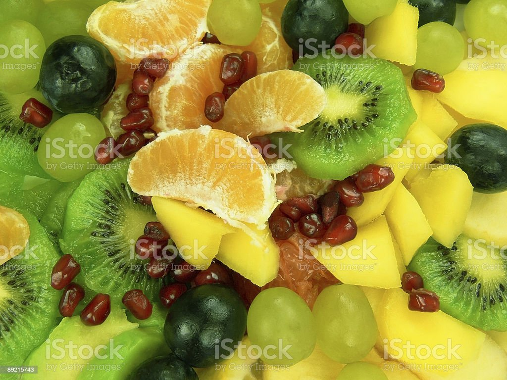 Delicious fruit salad royalty-free stock photo