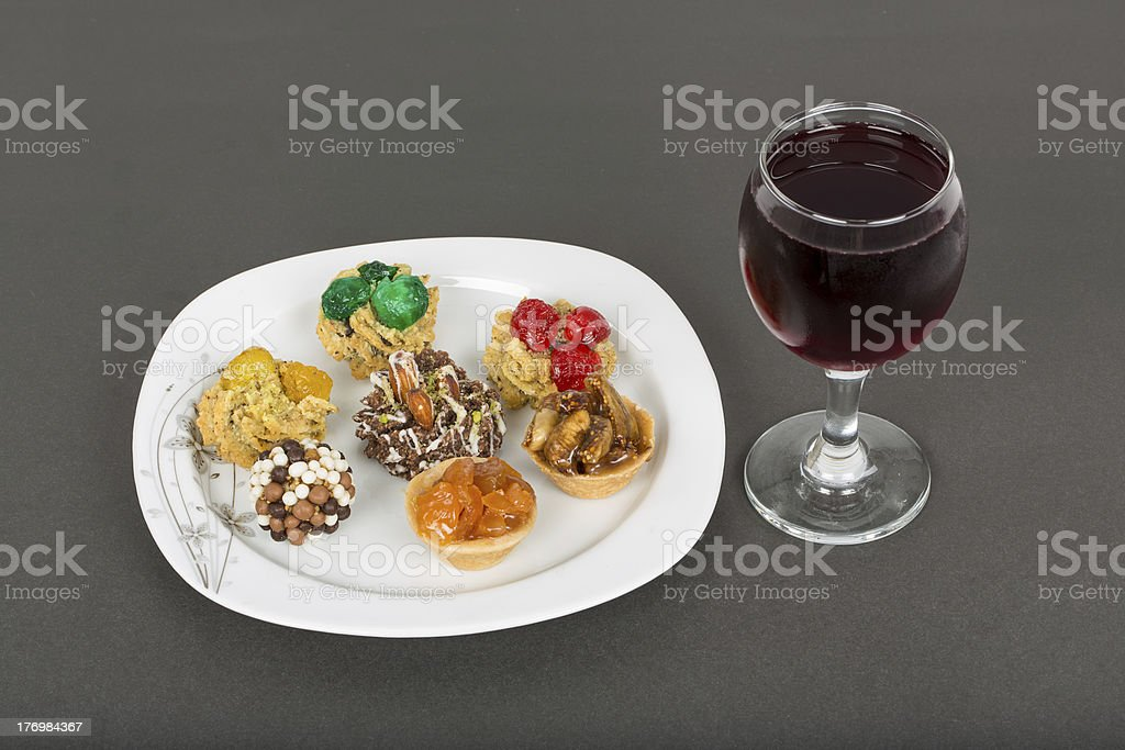 Delicious fruit tarts and cookies royalty-free stock photo