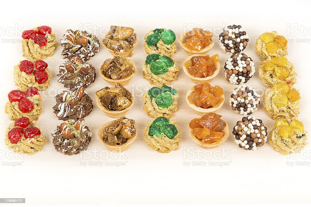 Delicious fruit tarts. royalty-free stock photo