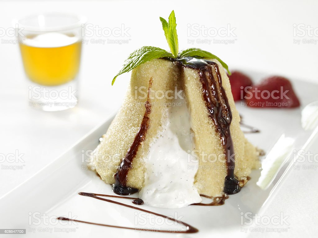 delicious gourmet dessert stock photo